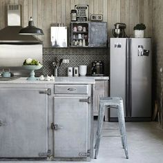 rustic and industrial kitchen my fav