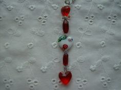 Glass Beaded Zipper Pull or Purse Charm with by whimsicalbeading, $5.00