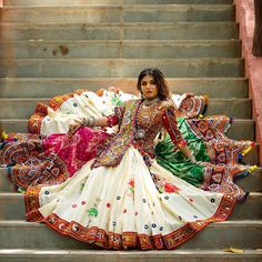 Photo by Richa Dave on August Image may contain: one or more people and outdoor Indian Bridal Outfits, Indian Bridal Fashion, Indian Designer Outfits, Bridal Dresses, Garba Dress, Navratri Dress, Lehnga Dress, Choli Blouse Design, Choli Designs