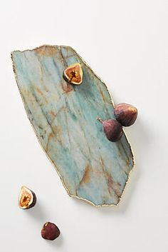 Agate Cheese Board by Anthropologie in Green, Kitchen Isle Of Man, Resin Crafts, Resin Art, Anthropologie Christmas, Anthropologie Uk, 3rd Eye Chakra, Charcuterie Spread, Charcuterie Board, Agate Coasters