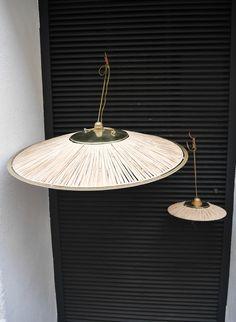 Honoré Décoration - Luminaires & miroirs - Abat jour Parasol Fer et corde