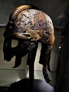 Vendel helmet: previking's warrior helmet found in grave. 7th century AD, Sweden