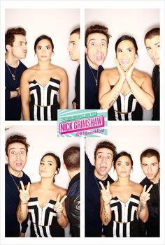 Demi Lovato, Nick Jonas and Nick Grimshaw - November Cute Celebrities, Celebs, Demi Lovato Nick Jonas, Demi Love, Nick Grimshaw, Disney Stars, Disney Channel Stars, Joe Jonas, Jonas Brothers