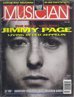 Jimmy Page on the cover of the classic Musician Magazine. This was their top seller of all time.