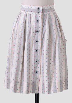 Spot On Button Up Skirt