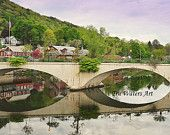 A view of the Bridge of Flowers which is part of a  Treasury I created on Etsy featuring the wonderful artists and location in beautiful Shelburne Falls, MA https://www.etsy.com/treasury/MzQ2MTAxMTF8MjcyMzc3ODMyNQ/shelburne-falls-ma-my-kind-of-town?ref=pr_treasury