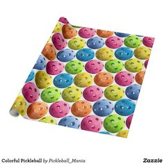 Colorful Pickleball Wrapping Paper