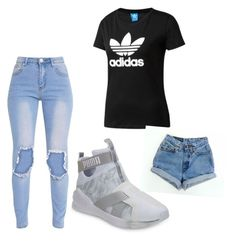 """""""Untitled #11"""" by robynique-patton on Polyvore featuring Puma, adidas Originals and Levi's"""