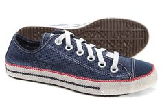 2013 Blue Converse Chuckout Summer Collection Mesh Style Low Tops Casual Shoes