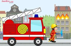 Аппликация пожарная машина Painting Patterns, Fabric Painting, Drawing For Kids, Art For Kids, Fire Drill, Letter F, Fire Trucks, Easy Drawings, Firefighter