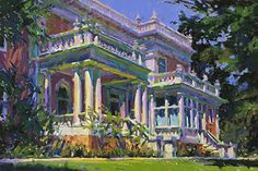 Carl Dalio - The Mansion- Pastel - Painting entry - August 2017 | BoldBrush Painting Competition