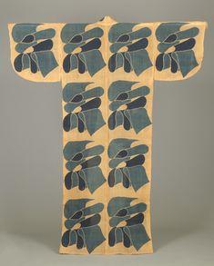 布文部屋着〈ぬのもんへやぎ〉<br> 芹沢銈介 芭蕉、型染 昭和時代〔日本〕 1959年<br> 138.5 x 134.0 cm No.23497
