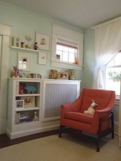 Creative combination of blinds and drapes for this nursery