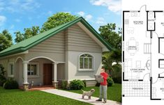 Small House Design – 2014005   Pinoy ePlans Small Bungalow, Modern Bungalow House, House Layout Plans, House Layouts, Home Design Plans, Plan Design, Small House Design, Modern House Design, Modern House Floor Plans