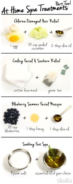 Here some fantastic DIY Spa Day Ideas from items found in your home! Check them out!