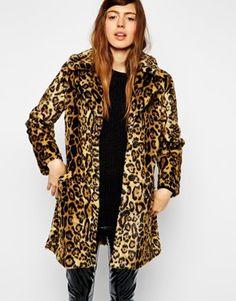 ASOS Faux Fur Coat In Animal Print $162 - the perfect leopard coat