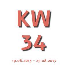 Die Aktuelle KW - Kalenderwoche heute ist die kw 34 und geht von 19.08.2013 - 25.08.2013