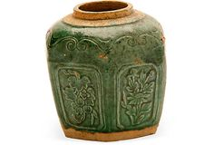 Antique Green Ceramic Ginger Jar on OneKingsLane.com $85