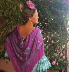 Manton Flamenco Dancers, Preppy, Beautiful Dresses, Lilac, Crochet Necklace, African, Classy, Costumes, My Style