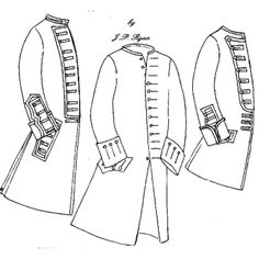 JP Ryan Coat with Military Variations : Zen Cart!, The Art of E-commerce Mens Sewing Patterns, Coat Patterns, Clothing Patterns, Historical Costume, Historical Clothing, Militar Jacket, Larp, Hamilton Costume, Circus Outfits
