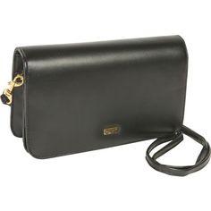 Price: $17.99  Buxton Check Clutch Mini Bag On A String   Color: Black      Faux Leather,     4 interior pockets,     Back zipper pocket,     Coin purse,     Detachable keyfob,     Detachable shoulder strap,
