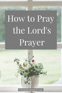 How to Pray Using the Lord's Prayer as Your Guide - Faithfully Planted Daily Prayer, Lord's Prayer, Prayer Scriptures, Prayer Board, Prayer For Anxiety, Bible Verses For Women, Learning To Pray, Prays The Lord, Free Bible Study