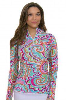 Golf Clothing l Icikuls Mock Sun Shirt : 10535
