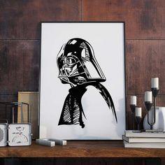 Darth Vader Poster starwars Zeichnung Vektor von MongoLife auf Etsy