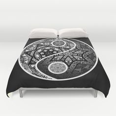 Yin Yang Zentangle Duvet Cover