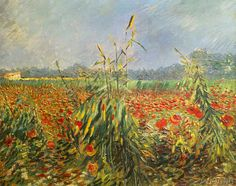 Vincent van Gogh - Green Corn Stalks