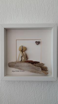 No:36 Aşıklar by Nebiye Karataş Marmara 25cmx25cm. Pebble Art. Çakıltaşı Resim Sanatı