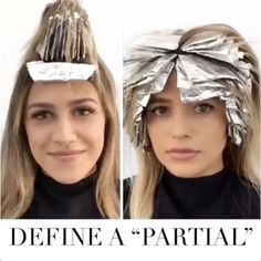 Half Head Of Foils—Do You Know The Difference? Do you know the difference between partial highlights and a half head of foils? Work smarter, not harder by checking out Lo Wheeler Davis' explanation! Partial Blonde Highlights, Highlights Around Face, Foil Highlights, Colored Highlights, Balyage Vs Highlights, T Section Highlights, Partial Balayage Brunettes, Full Head Highlights, Foils Vs Balayage