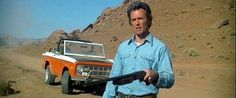 Two of my favorite things, Clint and an early Ford Bronco!  From the movie the Eiger Sanction.