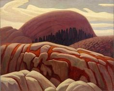 Lake Superior Hill XV by Lawren Harris of the Group of Seven 1925 Tom Thomson, Group Of Seven Artists, Group Of Seven Paintings, Emily Carr, Canadian Painters, Canadian Artists, Abstract Landscape, Landscape Paintings, Illustration
