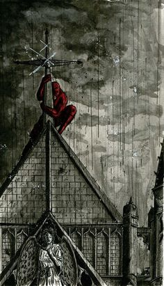 My baby boy hanging to crosses hurts my heart a little. But thats the only thing he hugs. Daredevil church by Sean-Walsh on DeviantArt Comic Book Characters, Marvel Characters, Comic Character, Comic Books Art, Comic Art, Arte Dc Comics, Marvel Comics Art, Marvel Heroes, Batman Wallpaper