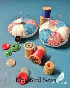 Blue Bird Sews: A Quilted Pincushion Tutorial