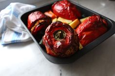 Stuffed Capsicums | Low FODMAP, gluten free, lactose free, fructose free, healthy dinner