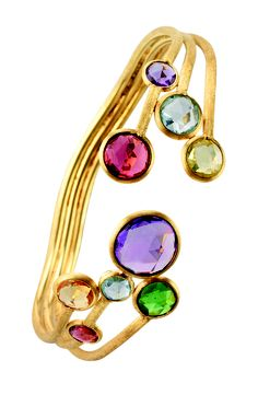 Marco Bicego's Jaipur colour bangle, with 18kt gold and natural stones