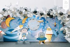 An Out of this World Birthday Celebration for Jarrett Space Party, Space Theme, Themed Parties, Party Themes, Christening Themes, Out Of This World, Event Ideas, Astronaut, Outer Space