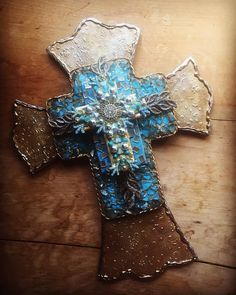 Cross Crosses Mothers day gift hand made hand painted found