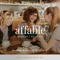 The is affable. Advanced English Vocabulary, English Vocabulary Words, Learn English Words, Fancy Words, Big Words, Words To Use, Unusual Words, Weird Words, Urdu Words With Meaning