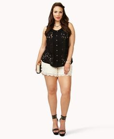 Floral Lace Top | FOREVER 21 -  love the whole outfit