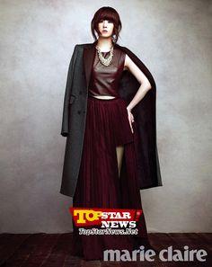 Kim Sun A in Maire Claire Korea
