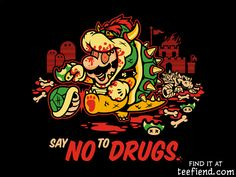 """Say No To Drugs"" by harebrained is only $12 this week at TeeTurtle http://www.teefiend.com/6399/say-no-to-drugs/"