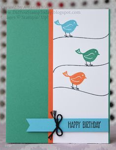 Swirly Birds on a Wire - Stampin' Up! Swirly Bird