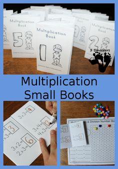 Multiplication Small Books | 3 Dinosaurs