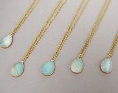 Long Pendant Necklace, Gemstone Necklace, Gold Pendant, Cute Earrings, Unique Earrings, Stone Gold, Chain Pendants, Custom Jewelry, Gifts For Women