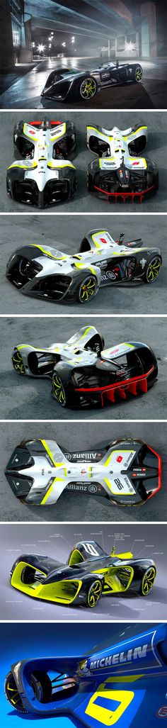 Roborace partnered with legendary designer Daniel Simon to design their driverless race car. This car actually believes the future of formula racing will be completely autonomous, where algorithms battle to win races. The 199mph car is also designed with a surplus of air intake vents, allowing the internal hardware to stay cool, because hey, racing can be stressful for artificial intelligence too!