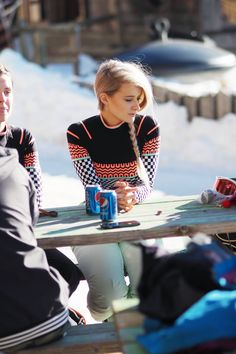 This gorgeous ski top from Sweaty Betty was a must in Morzine for our snowboarding adventure!