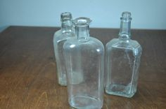 Vintage Glass Spice Bottles  Set of 3 by JuxtStudios on Etsy, $12.00